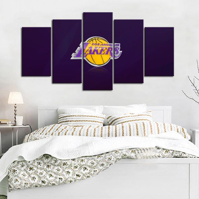 Los Angeles Lakers in Purple Canvas