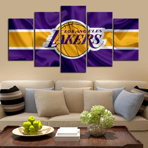 Los Angeles Lakers Flag Look Canvas