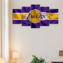 Load image into Gallery viewer, Los Angeles Lakers Flag Look Canvas