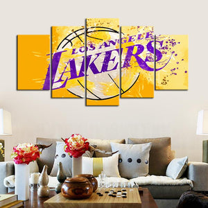 Los Angeles Lakers Paint Splash Canvas