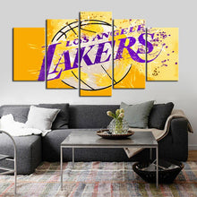 Load image into Gallery viewer, Los Angeles Lakers Paint Splash Canvas
