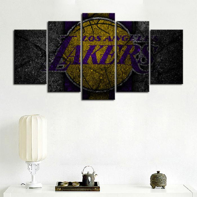 Los Angeles Lakers Rock Style Canvas