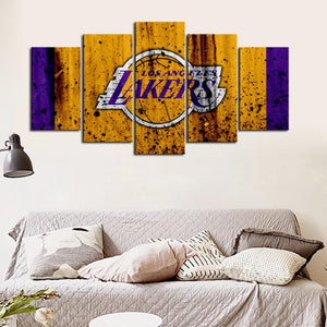 Los Angeles Lakers Rough Look Canvas