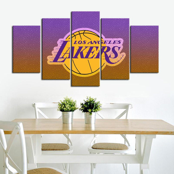 Los Angeles Lakers Doted Style Canvas
