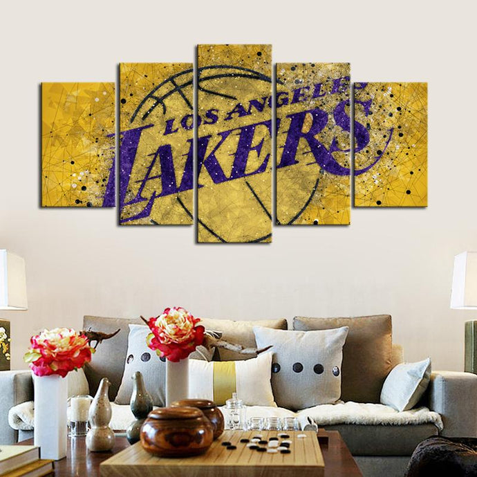 Los Angeles Lakers Tech Style Canvas