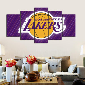 Los Angeles Lakers Line Texture Canvas