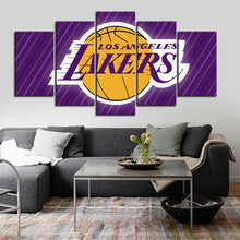 Load image into Gallery viewer, Los Angeles Lakers Line Texture Canvas