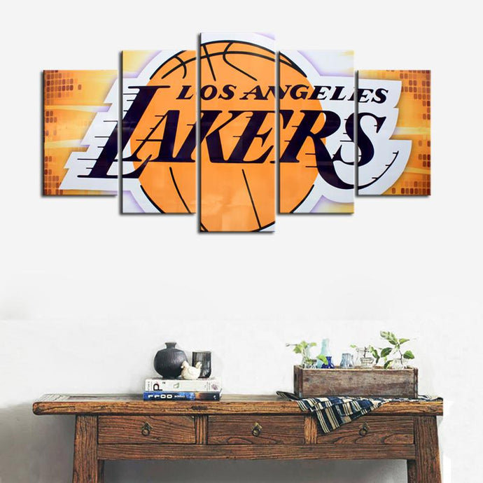Los Angeles Lakers Disco Style Canvas