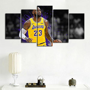 LeBron James Los Angeles Lakers Canvas