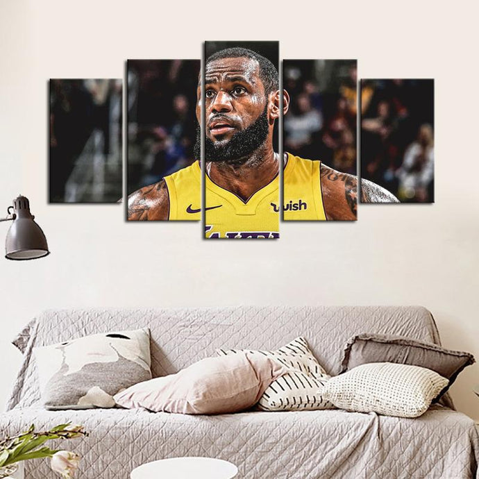 LeBron James Los Angeles Lakers Canvas 2
