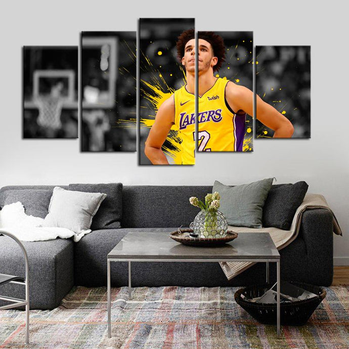 Lonzo Anderson Ball Los Angeles Lakers Canvas 2