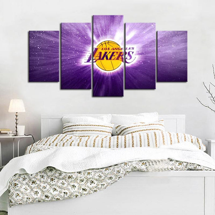 Los Angeles Lakers illuminate Canvas