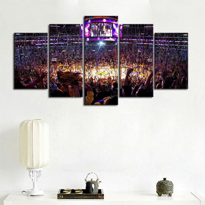 Los Angeles Lakers Stadium Canvas