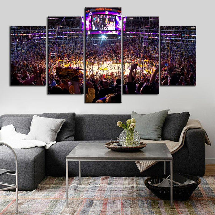 Los Angeles Lakers Stadium Canvas 4