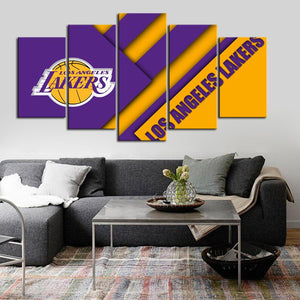 Los Angeles Lakers Cross Cut Canvas