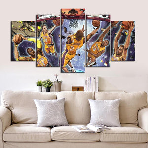 Los Angeles Lakers Wall Art Canvas
