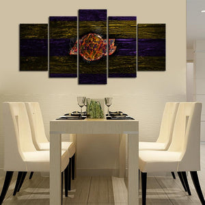 Los Angeles Lakers On Fire Canvas