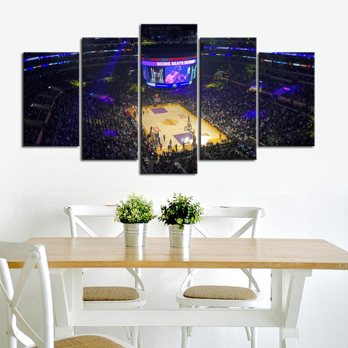 Los Angeles Lakers Stadium Canvas 3