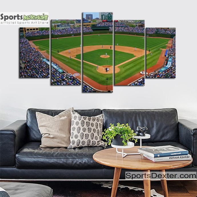 Chicago Cubs Stadium Canvas 1