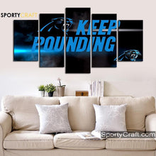 Load image into Gallery viewer, Keep Pounding Carolina Panthers Canvas