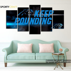 Keep Pounding Carolina Panthers Canvas