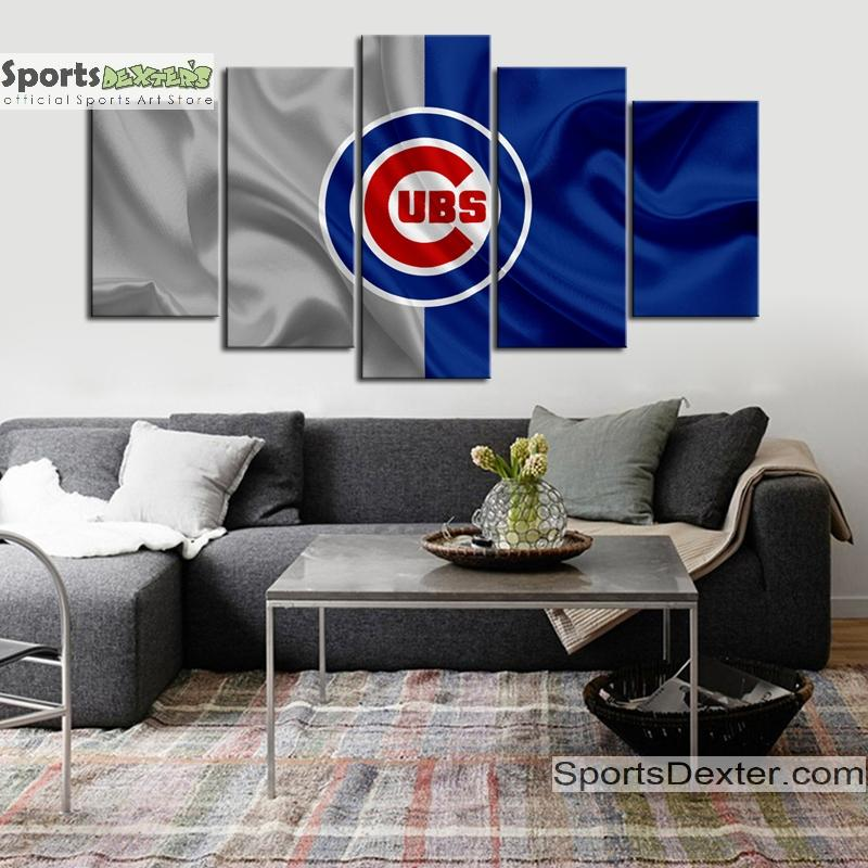 Chicago Cubs Fabric Flag Canvas