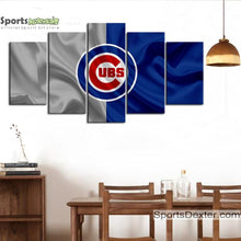 Load image into Gallery viewer, Chicago Cubs Fabric Flag Canvas