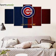 Load image into Gallery viewer, Chicago Cubs Leather Look Canvas