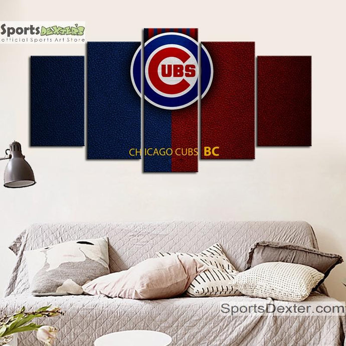 Chicago Cubs Leather Look Canvas