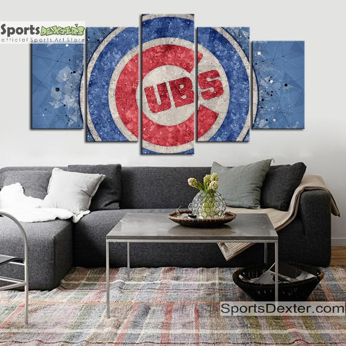 Chicago Cubs Diamond Cut Canvas