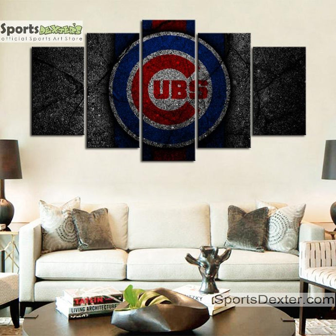 Chicago Cubs Rock Style Canvas