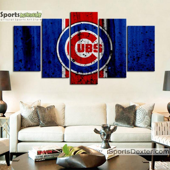 Chicago Cubs Rough Look Canvas