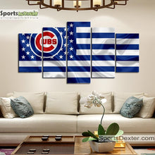 Load image into Gallery viewer, Chicago Cubs American Flag Canvas