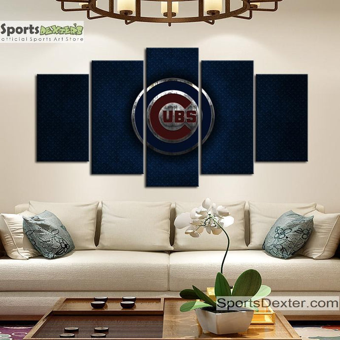 Chicago Cubs Metal Style Canvas