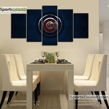 Load image into Gallery viewer, Chicago Cubs Metal Style Canvas
