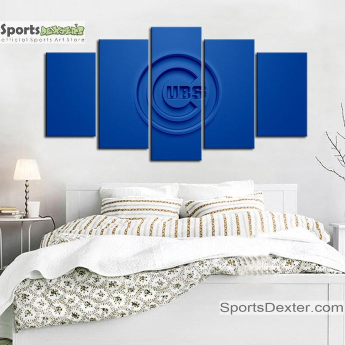 Chicago Cubs Embossed Look Canvas