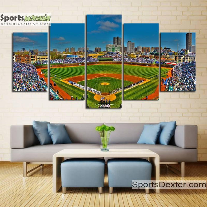 Chicago Cubs Stadium Canvas 2