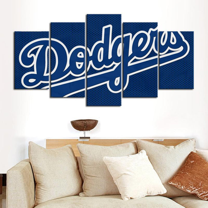 Los Angeles Dodgers Dot Stye Canvas