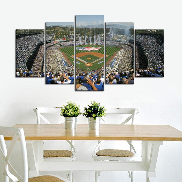 Los Angeles Dodgers Stadium Canvas 1