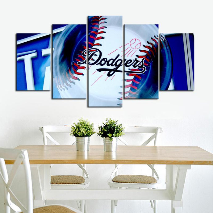 Los Angeles Dodgers Ball Canvas