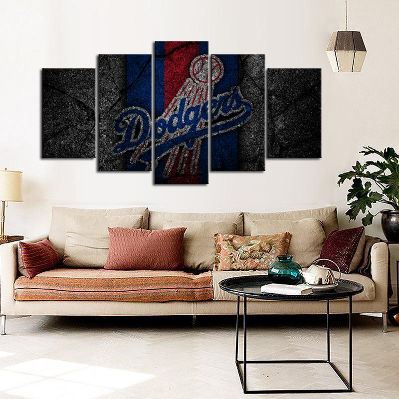 Los Angeles Dodgers Rock Style Canvas
