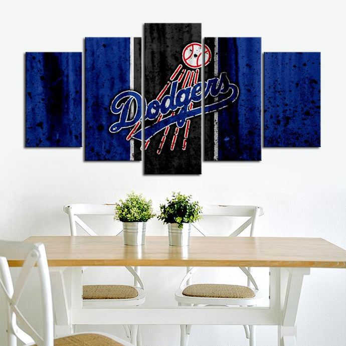 Los Angeles Dodgers Rough Look Canvas
