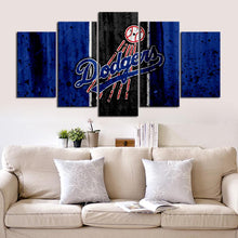 Load image into Gallery viewer, Los Angeles Dodgers Rough Look Canvas