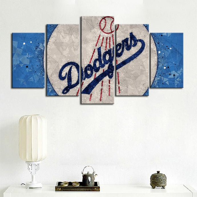 Los Angeles Dodgers Diamond Cut Canvas