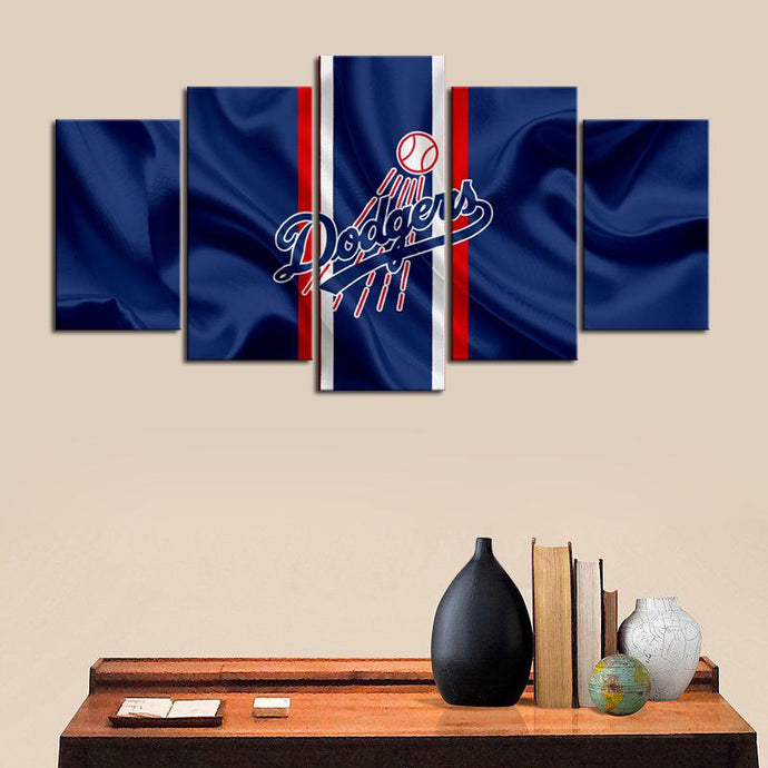 Los Angeles Dodgers Fabric Flag Canvas