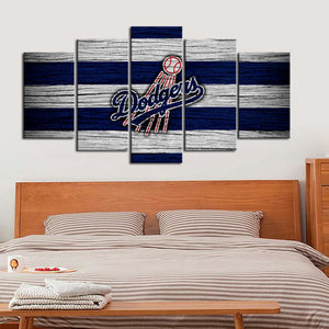 Los Angeles Dodgers Wooden Look Canvas