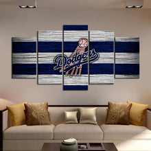 Load image into Gallery viewer, Los Angeles Dodgers Wooden Look Canvas