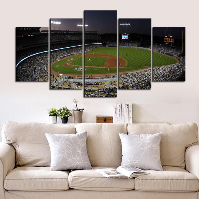 Los Angeles Dodgers Stadium Canvas 4
