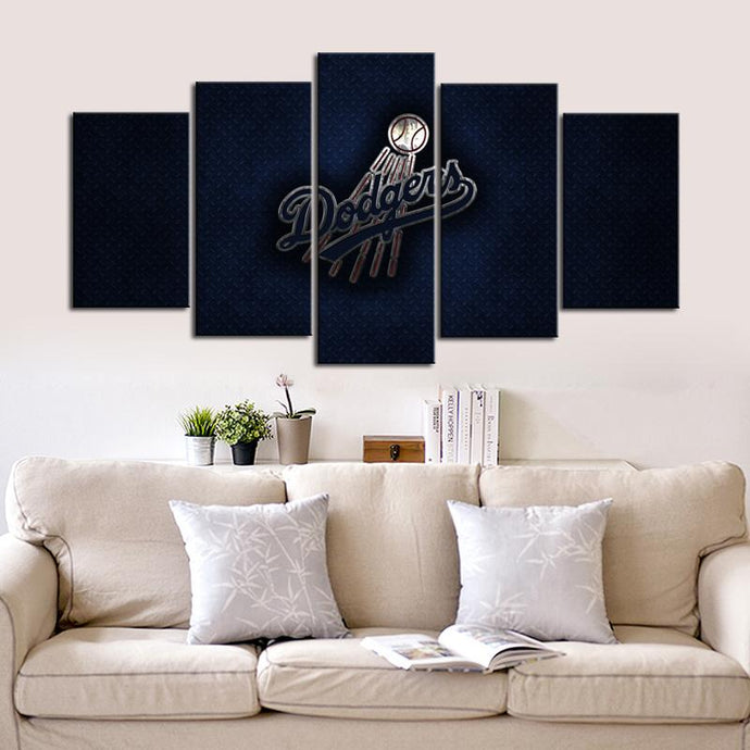 Los Angeles Dodgers Metal Look Canvas