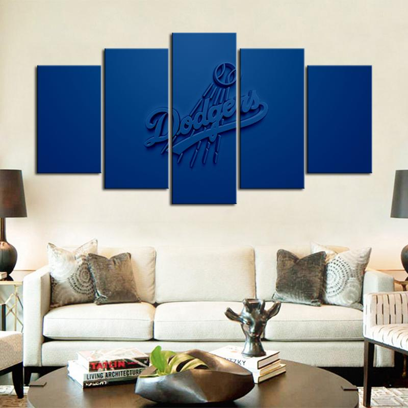 Los Angeles Dodgers Embossed Style Canvas